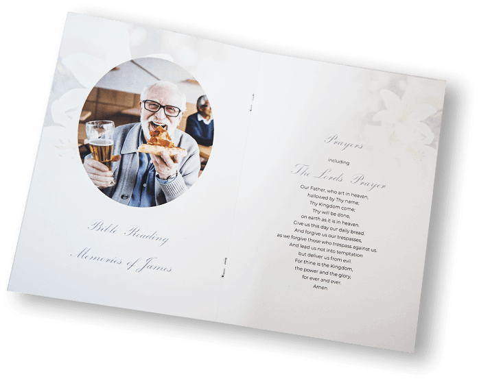 Funeral Stationery Bright