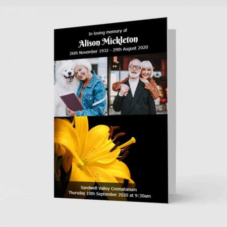 Yellow Lilly - Order of Service