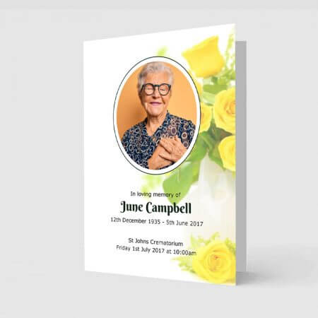 yellow rose order of service template